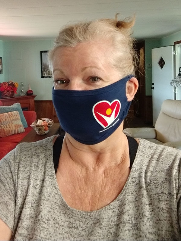 Patient Wearing HeartValveSurgery.com Face Mask