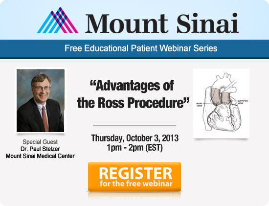 Click here to register for the Ross Procedure Webinar on October 3!