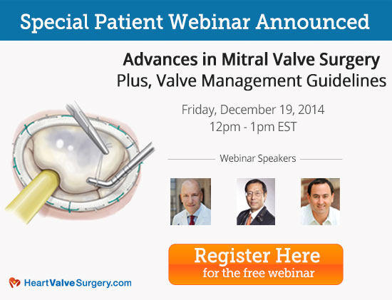 Webinar of Advances Mitral Valve Surgery with Dr. David Adams