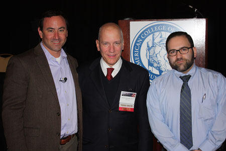 Adam Pick, Dr. David Adams, Gideon Sims at The Heart Valve Summit