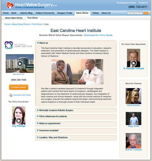 East Carolina Heart Institute - Heart Valve Clinic Microsite