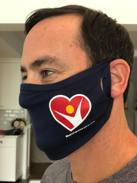 Free COVID Mask with HeartValveSurgery.com Logo