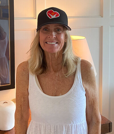 Patient Wearing HeartValveSurgery.com Hat