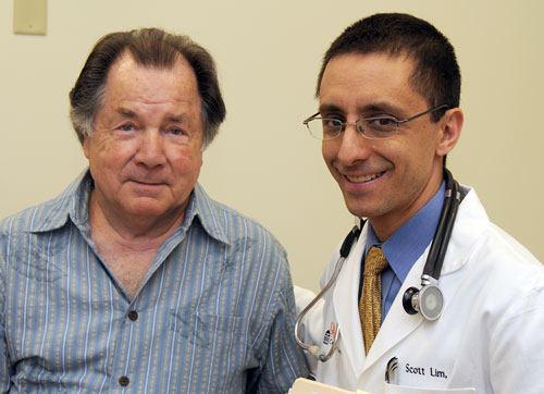 Dr. Scott Lim with MitraClip Patient