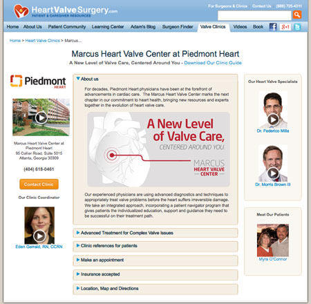 Bernie Marcus Heart Valve Center