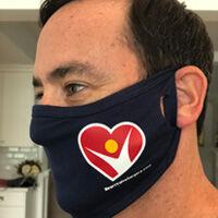 Adam Pick Wearing HeartValveSurgery.com Logo Mask