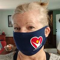 Coronavirus Face Mask on Heart Surgery Patient
