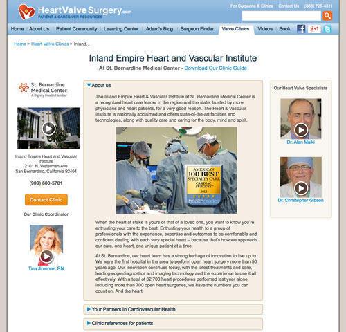 St. Bernardine Heart Valve Clinic Microsite