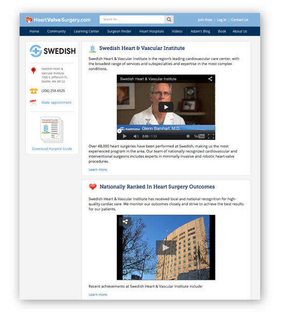 Swedish Heart Valve Clinic Microsite