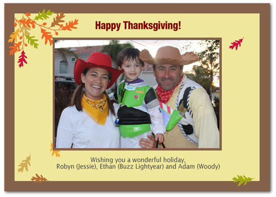 Thanksgiving Card With Leaves