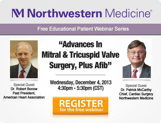 Webinar with Drs. Bonow & McCarthy About Valve Disease and Atrial Fibrillation