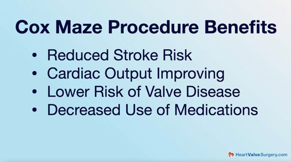 Cox Maze IV - Patient Benefits