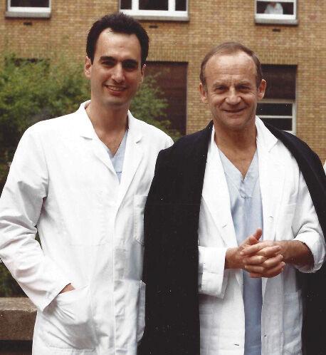 Dr. Marc Gerdisch with Dr. Alain Carpentier (France)